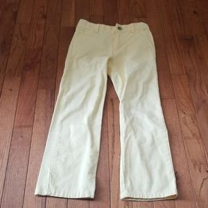 Janie and jack boys light yellow chino pants 7